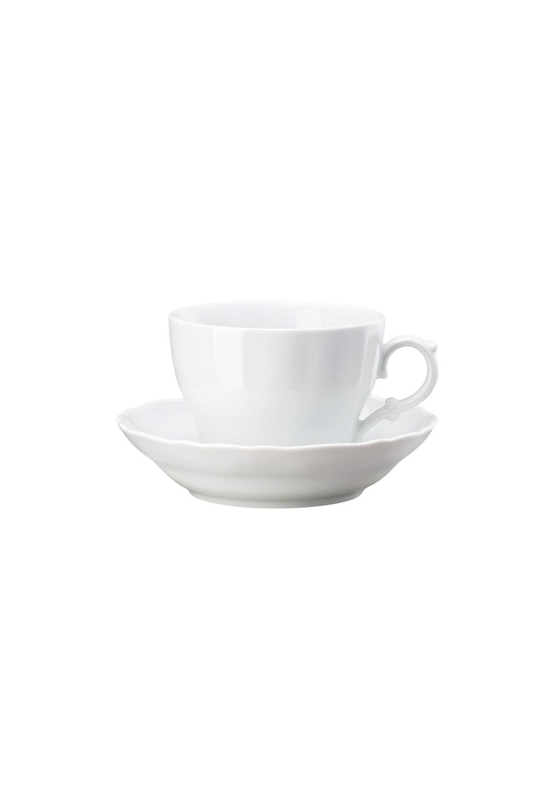 Café au Lait kop en schotel