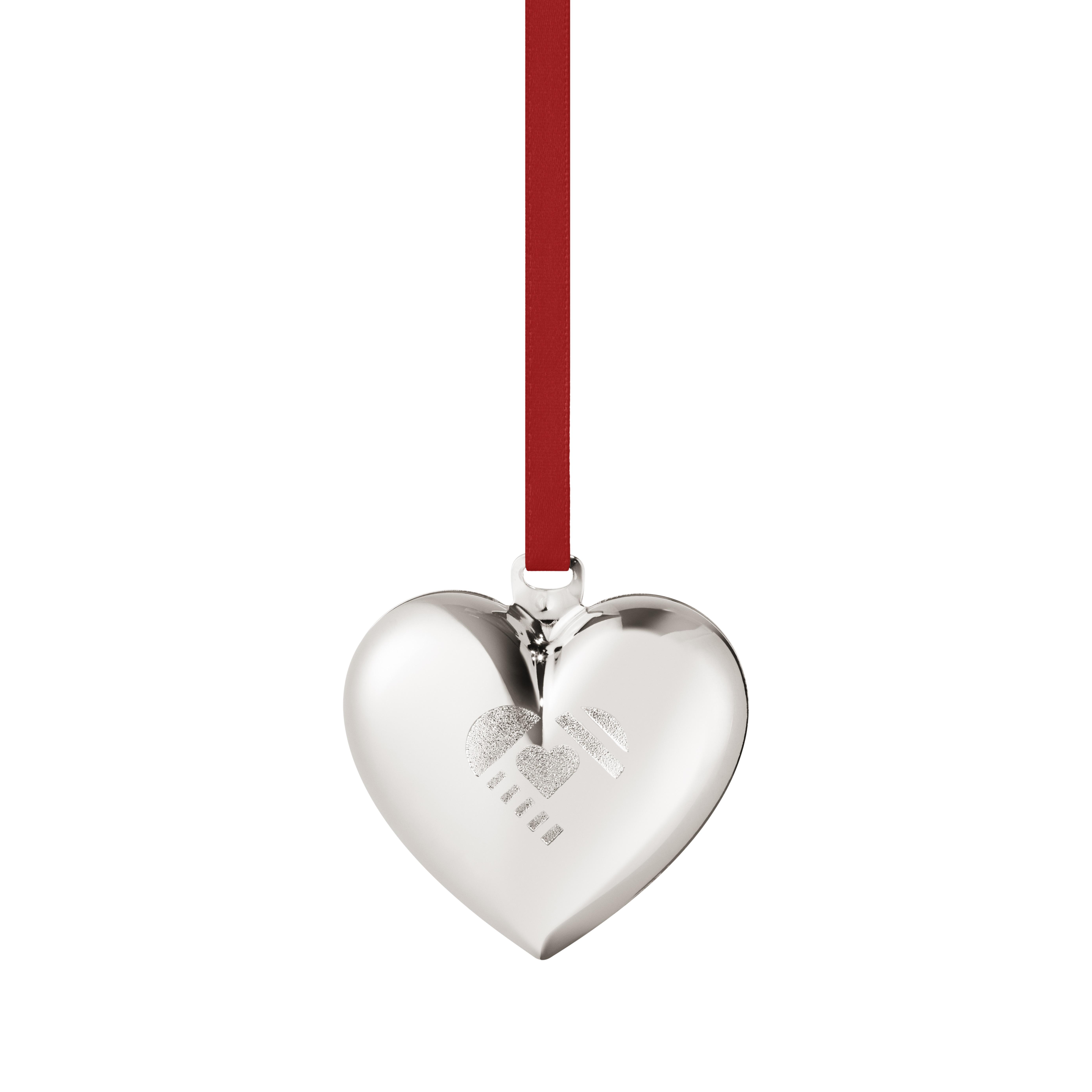 Christmas heart white gold