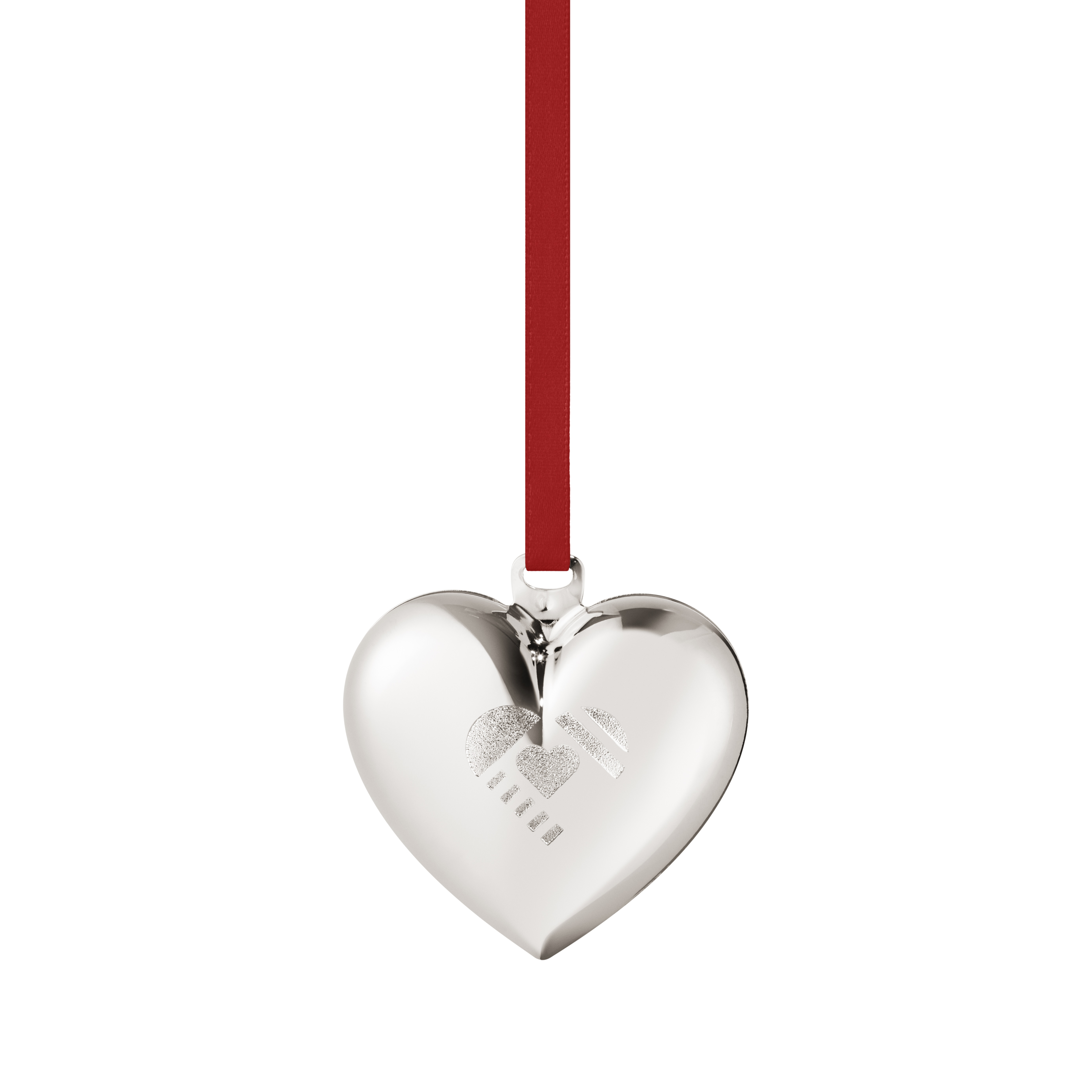 Christmas heart white gold